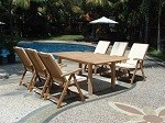 Solid 1 Teak Garden Furniture Set