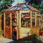 Malvern Suntop Greenhouse Potting Shed 7'7 x 7'7