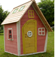 Crooked Cottage Wooden Playhouse 5'1x3'3