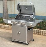 Stainless Steel 4 Burner Gas Barbeque