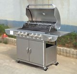 Stainless Steel 6 Burner Gas Barbeque