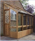 Finch Wooden Lean-to Greenhouse 4'6 x 12'7