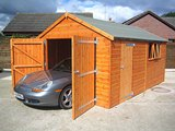 Shedlands Traditional Deluxe Wooden Garage 16'x12'