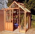 Malvern Hampton Greenhouse 4'6x6' wide
