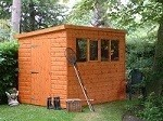 Popular Pent  Shed 6x4 (1.82m x 1.22m)