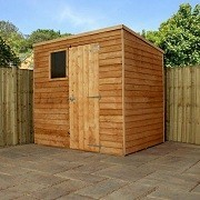 Hereford Overlap Pent Shed 7'x5'