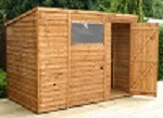 Hereford Overlap Pent Shed 8'x6'