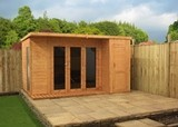 Camden Garden Room with Side Shed 12x8