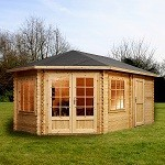 Grande Corner Lodge Log Cabin 5m x 3m