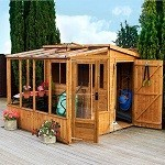 Fletcher Combi Pent Shed Greenhouse Unit