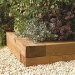 Rowlinson Timber Blocks 2 pack 1.8m