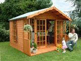The Burnthill Summerhouse 8'x10' (2.43m x 3.04m) Ready Built Free Delivery