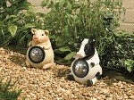 Farmyard Animals Solar Powered Spot Lights Pig and Cow