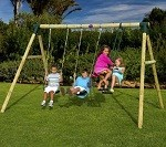 Colobus Wooden Garden Swing Set