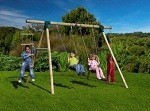 Gibbon Wooden Garden Swing Set