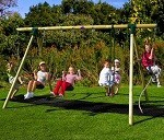 Orang-Utan Wooden Garden Swing Set