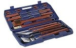 18 Piece Stainless Steel BBQ Toolkit with Case