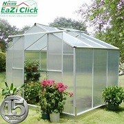 Eazi Click 6 x 8 Greenhouse with base