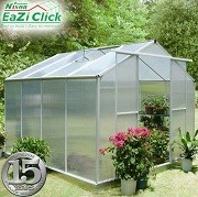Eazi Click 8 x 8 Greenhouse with base
