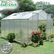 Eazi Click 10 x 8 Greenhouse with base