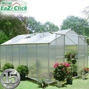 Eazi Click 12 x 8 Greenhouse with base