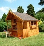 The Bluebell Cabin Playhouse with Verandah