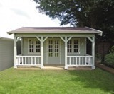 Dubai Log Cabin 44mm (550cm x 500cm) - including Internal Floor