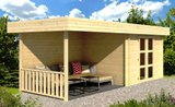 Maja 28mm Log Cabin 3.2m x 3.2m + 3.2m