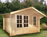 Ulrik Log Cabin 45mm Log Cabin 3.8m x 3.8m
