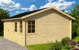 Moa Log Garage 45mm Log Cabin 5.98m x 5.00m