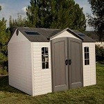 Lifetime Plastic Shed 10x8 - Single Entrance