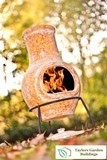 Mottled Yellow Small Clay Chimenea