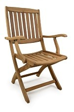The Perkins Folding Teak Arm Chair