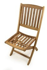 The Perkins Folding Teak Side Chair