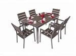 7 Piece Stainless Steel Dining Set