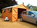 Heavy Duty Wooden Garage 18x8 (5.49m x 2.44m)