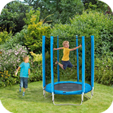 Junior Trampoline & Enclosure - Blue