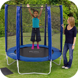 6ft Trampoline & Enclosure - Blue