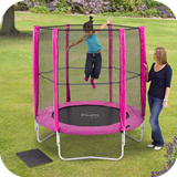 6ft Trampoline & Enclosure - Pink