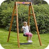 Wooden Single Swing Set