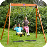 Wooden Double Swing Set