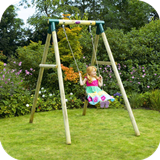 Bush Baby Wooden Garden Swing Set