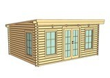 Barcelona 5m X 4m 44mm Log Cabin