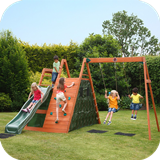 Climbing Pyramid Wooden Climbing Frame with Swings