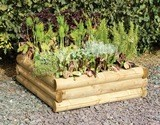 Forest Half Round Sleeper Raised Bed