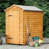 Forest Economy 6x4 Security Overlap Apex Shed