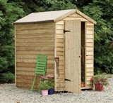 Forest Economy 6x4 Overlap Apex Security Shed
