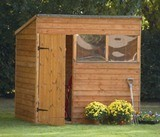 Forest Economy 7x5 Overlap Pent Shed