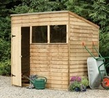 Forest Economy 7x5 Pressure Treated Overlap Pent Shed