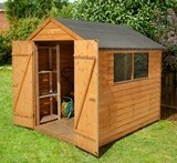 Forest Economy 8x6 Overlap Apex Shed Double Door